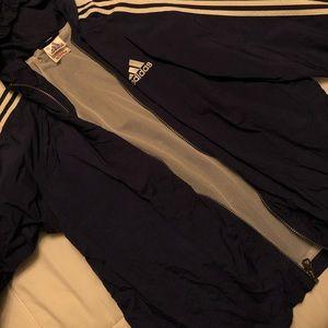 Adidas windbreaker NAVY